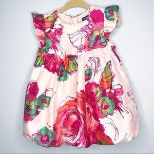 Babygap Pink floral balloon dress 12-18 months